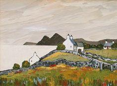 British Artist David BARNES - Cottages in Lleyn