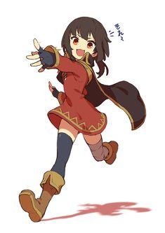 Megumin on the Move Konosuba Anime, All Anime, Loli Kawaii, Kawaii Anime, Fanart, Akatsuki, Megumin Explosion, Darkness Konosuba, Boca Anime
