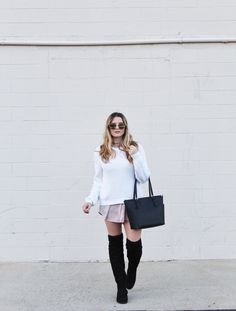 9e732e4aef0 Sweater dresses with over-the-knee boots Sweater Dresses