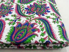 Multi color Hand Block Print Fabric
