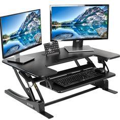 Adjustable Standing Desk Converter, Adjustable Height Desk, Sit Stand Desk, Sit To Stand, Best Standing Desk, Standing Desks, Tabletop, Desk Riser, Computer Station