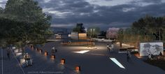 Lena Sionti - Kalliopi Chourmouziadou architects, 2nd prize at the architectural competition for the redesign of Pyrros square at Ioannina, Greece. Kids friendly urban design, natural elements, playscape, environmental design, flowing water elements, outdoor cinema / performances options, reduced mobility friendly urban design .