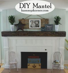 Fireplace Facelift Beautiful Mantel Built With Scraps