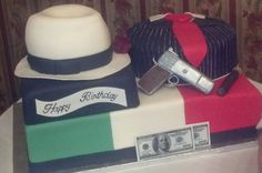 Italian Mobster Birthday Bash This was a huge cake made for a dinner show based on the mob. The cake was part of the show and then served. Daddy Birthday, Birthday Bash, Italian Mobsters, Huge Cake, Italian Party, Party Fiesta, Rice Crispy Treats, Married Life, How To Make Cake