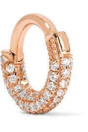 Mini 18-karat rose gold diamond earring
