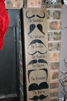 Mustache Styles Decorative Wood Sign by piperbea on Etsy, $34.95