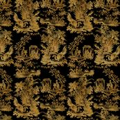 Chinoiserie Toile ~ Gilt Lacquerware by peacoquettedesigns
