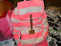 hot pink backpack!!