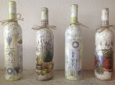 Декупаж тарелки, кружки, доски, бутыля, шкатулки Decoupage, Bottle, Home Decor, Ideas, Diy, Bottles, Decorate Bottles, Flask, Interior Design