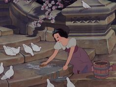 Screencap Gallery for Snow White and the Seven Dwarfs Bluray, Disney Classics). A beautiful girl, Snow White, takes refuge in the forest in the house of seven dwarfs to hide from her stepmother, the wicked Queen. Old Disney, Disney Love, Disney Magic, Vintage Disney, Disney Princess Snow White, Snow White Disney, Roger Rabbit, Bambi, Snow White Images
