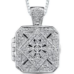 Vintage Legacy: Sterling Silver Rhodium Finish Antique Style Treasure Locket Pendant Necklace with Cubic Zirconia (Jewelry)  http://documentaries.me.uk/other.php?p=B001A01RYW  B001A01RYW