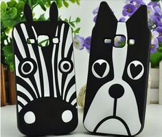 Samsung Galaxy J1 Cute 3D Animal Dog / Zebra Soft Silicon Case - Galaxy J1 J5 J7 Cases - Samsung Cases