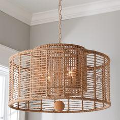 Our Jute Veil Chandelier brings new life to a nautical sense of style. The layered shades have a jute wrap around the entirety of the frames with a fun cork finial to finish off the fixture. This bold piece boasts a calming color tone that will glow in your living room or dining room. Rustic Chandelier, Chandelier Shades, Lighting Shades, Shell Chandelier, Chandelier Bedroom, Room Lights, Ceiling Lights, Porch Ceiling, Rope Frame
