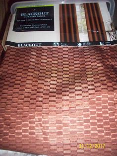 Home Classics Grommet  Blackout  Curtain Panel PAIR 54inX84 Russet Brown NEW