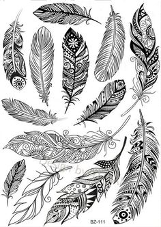 Mandala Nature, Mandala Feather, Mandala Tattoo, Mandala Art, Feather Drawing, Feather Tattoo Design, Feather Art, Drawings Of Feather, Feather Arrow Tattoo