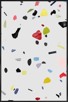 Painted terrazzo 1 en Affiche sous cadre standard par LEEMO | JUNIQE