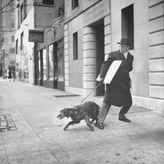 Photos of Famous New Yorkers Walking Their Dogs in the 1940s | WOOFipedia by The American Kennel Club