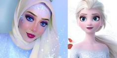Muslim Makeup Artist Uses Hijab to Transform into Disney Characters | Inside the Magic