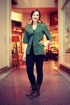 Vintage Max Mara Weekend forest green jacket by RenewBoutiqueGR