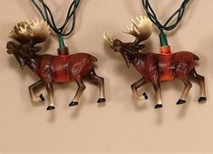 Moose Decorative Party Lights Set of 10---So campy!