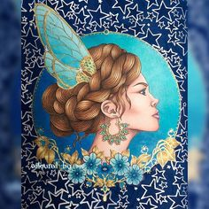 The Fairy Princess Dagdrömmar [No.4] Hanna Karlzon ✏️Faber Castell Polychromos, Prismacolor Premier & Winsor & Newton gold and silver ink 26/7/16