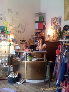 Vintage shop - love the counter