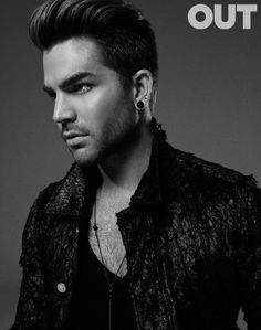 (2015) BELGIAN FASHION: Adam Lambert in Out Magazine: Tank top by Ann Demeulemeester | Source: Out Magazine (photo credit: Jack Waterlot)