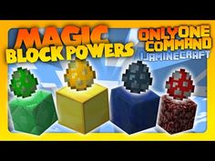 Minecraft - Magic Block Powers in one command! | Vanilla Command Creation! - YouTube