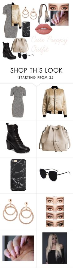 """""""Cute Preppy outfit"""" by lauren-paul-sets ❤ liked on Polyvore featuring French Connection, Sans Souci, Frye and Lime Crime"""