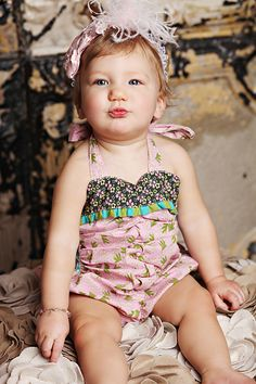 Kids shortie Romper Upcycled Romper size 2T