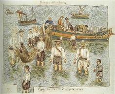 Greek Paintings, Greek History, Mykonos Greece, 10 Picture, Greek Art, Conceptual Art, Printmaking, Sea, Sculpture