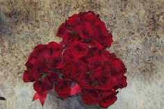Red rose bridesmaids bouquets
