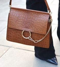 "The Chloe ""Faye"" Croc Leather Bag"