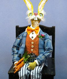 OOAK HandmadeMarch Hare Alice in Wonderland Chair by cre8orstouch, $90.00