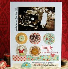 "Such a lovely simple lo, great use of pp could be from scraps, love how the pic is ""framed"" by white space"
