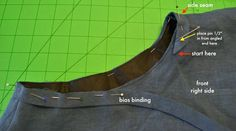 NEW Tutorial: Attaching and Joining Double Fold Bias Binding - Sew Tessuti Blog