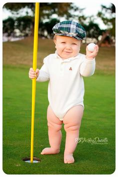 Baby golf photo, 1 year old golf photo, golf theme photo.  Ashley Danielle Photography {blog}: Maple Valley | Rancho Cucamonga Baby Photographer