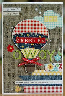 Get Carried Away card using Simple Stories' Summer Fresh collection.