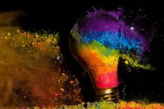 colors inspiration. High-Speed Photography of Light Bulbs Exploding by Jon Smith