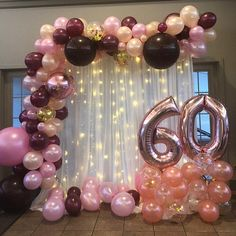 Balloon Garland DIY Kit to Includes EVERYTHING that you will need for assembly - Birthday party decorations - - 60th Birthday Party Decorations, Balloon Decorations Party, 40th Birthday Parties, Diy Birthday, Graduation Centerpiece, Graduation Decorations, Party Centerpieces, 60th Birthday Balloons, 60th Birthday Ideas For Mom