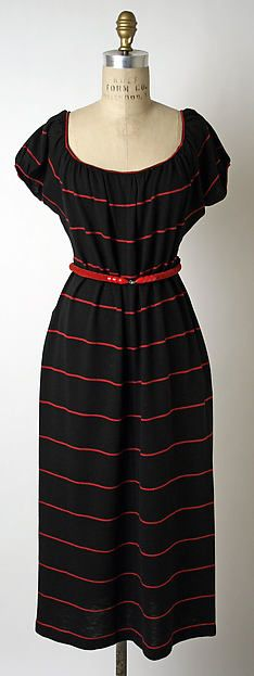 Dress Designer: Claire McCardell (American, 1905–1958) Manufacturer: Townley Frocks (American) Date: 1944 Culture: American Medium: wool