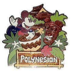 Disney's Polynesian Resort Logo Pin - Mickey & the Tiki Statue