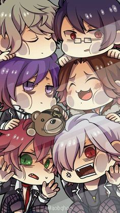Chibi Diabolik Lovers......Is it bad that they could kill me but they are still to damn cute for me to care!!!!
