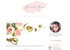 Pink Feminine Blogger Template   Kendall Rose