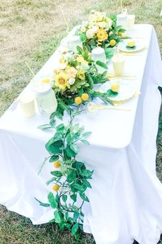 Take a look at this refreshing lemonade birthday party! The table settings are fabulous!! See more parties ideas and share yours at CatchMyParty.com #catchmyparty #partyideas #lemonas #lemonade #lemonadaparty #girlbirthdayparty #summerparty #partydecorations #tablesettings Summer Birthday, Birthday Parties, Lemon Party, Summer Cakes, Rustic Table, Summer Parties, For Your Party, Craft Party, Lemonade