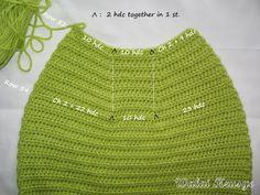 Walai Krusye: 1# Tutorial: Fat Bottom Bag Crotchet Bags, Crochet Tote, Crochet Handbags, Chevron Purse, Crochet Bag Tutorials, Market Bag, Purses, Knitting, Pattern
