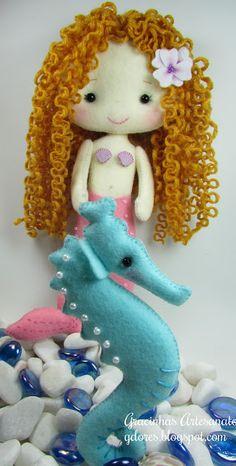 Felt Mermaid | wisecracks Craft