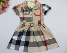 Classic British Plaid Girls Summer Checkered Dress for Baby Girl  | sariasknitncrochet - Children's on ArtFire