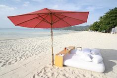 Breakfast on the beach at The Library, Koh Samui, Thailand 2013