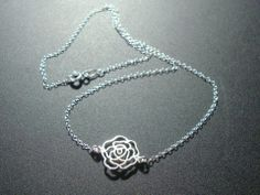 Rose Blossom Sterling Silver Necklace